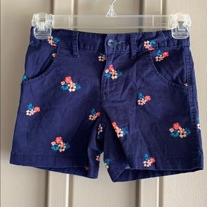 Faded Glory Navy Floral Shorts